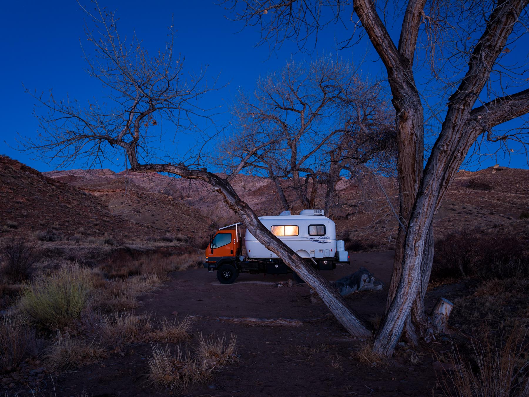 Rough Camping in the San Rafael Swell.